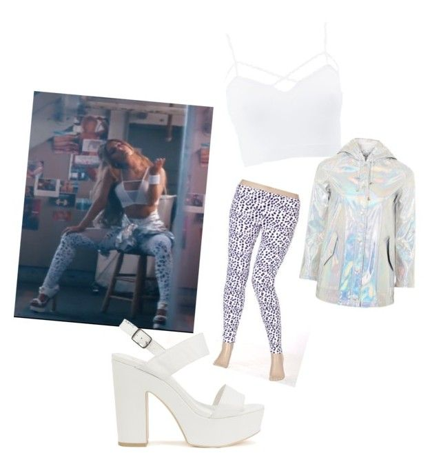 """""""Ariana grande side to side get the look outfit #2"""" by haleighdiehljem ❤ liked on Polyvore featuring Charlotte Russe, Nly Shoes, Topshop and plus size clothing"""