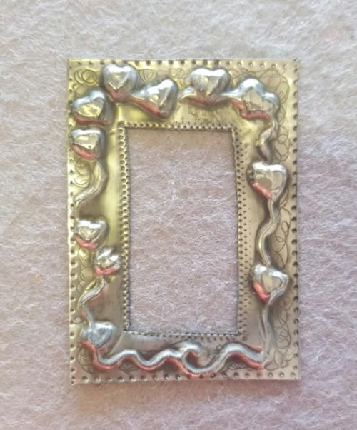 Buy Pewter Art Picture frame for Scrapbooking 5 x 6.5cm for R25.00