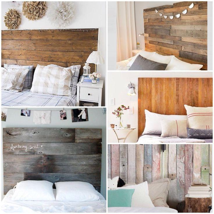 Cabeceros de madera rústicos y con letras -DIY
