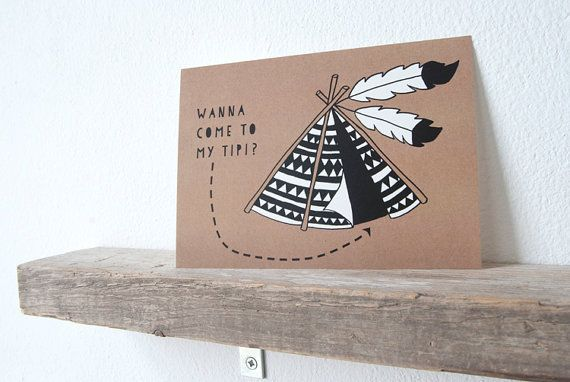 Card Tipi van itssimplymax op Etsy, €1.20