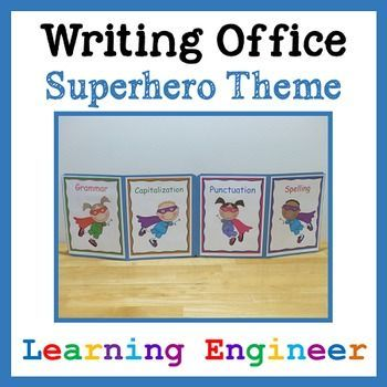 These writing offices have been student tested and teacher approved. They work and the kids enjoy using them. Plus, they are fun to look at! Use these during independent writing time and they will cut down on distractions and help kids focus on their work. There is handy information on the inside for kids to use no matter what kind of writing they are doing: narrative, informational, or opinion. $