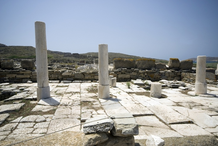 The ruins in the ancient city of Delos