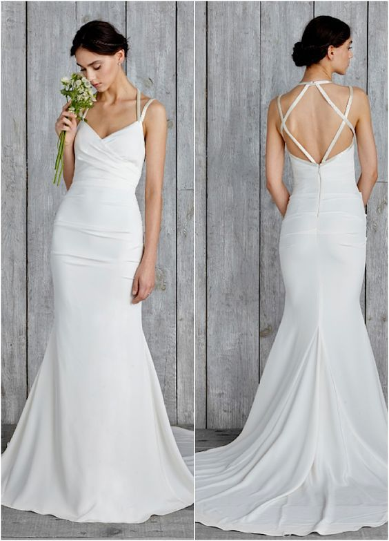 Featured Dress: Nicole Miller; Wedding dress idea.