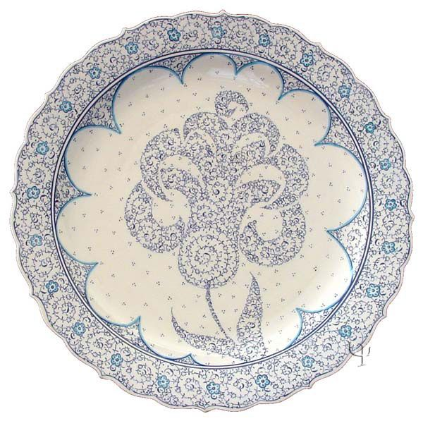 Iznik Design Ceramic Plate - Halic yurdan.com