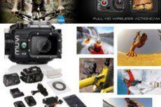 """Fantastisk MUVI Action Camera Pakke fra Veho! Vandtæt cover medfølger! Indeholder et hav af ekstra udstyr! Du får også et Ekstra batteri og en aftagelig 2"""" LCD skærm! Sættet til alle der elsker at ..."""