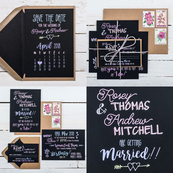 SCRIBBLE & SCRAWL wedding stationery collection! Available in ANY COLOUR! Designed with display chalk boards in mind, 'Scribble & Scrawl' is all about the text. By using fashionably flawed fonts and a variety of doodles and symbols, it feels playful and home-made. If you have any questions or to find out about the available products in this collection and their prices, please visit the website.