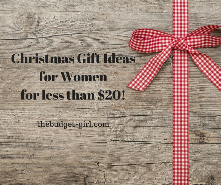 Frugal Christmas gifts for women for less than $20 #frugal #christmas #giftideas