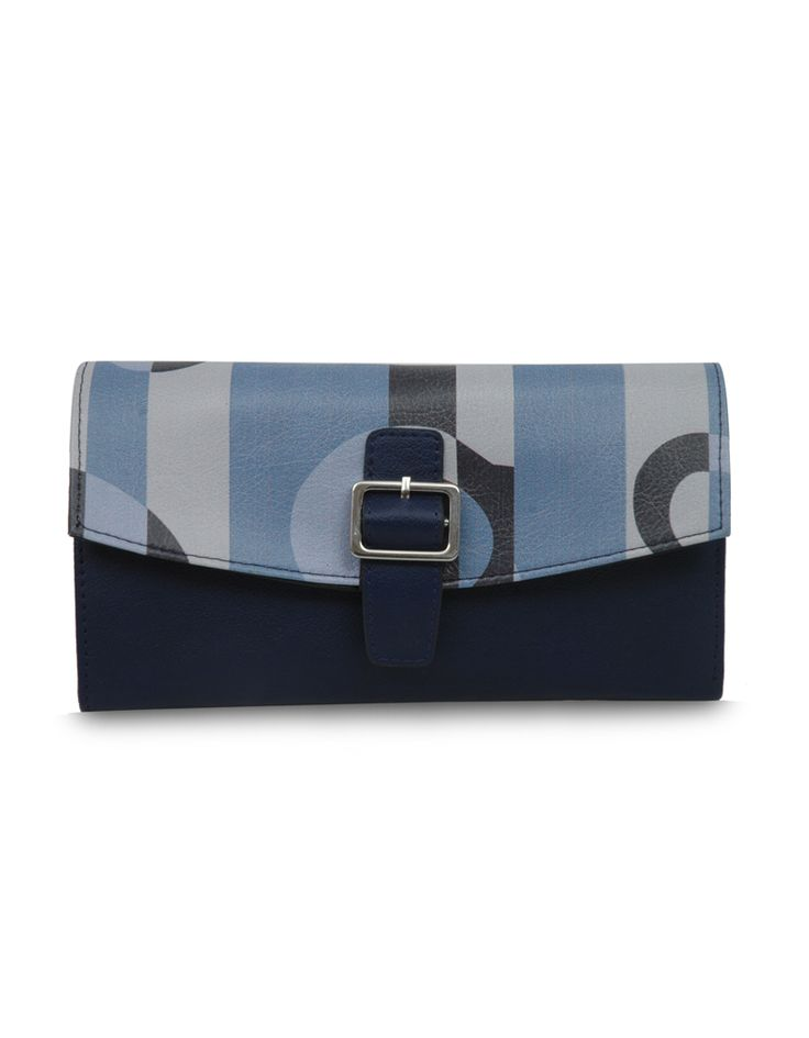 W Frequency Dum Blue Retro inspired blue belt by Baggit.  www.baggit.com