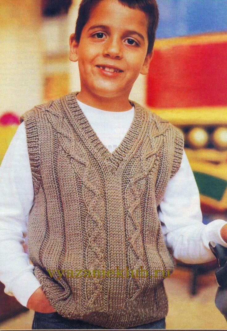 Безрукавка для мальчика 7 лет - Для мальчиков - Каталог файлов - Вязание для детей