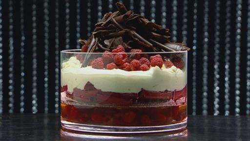 Rhubarb Trifle with Champagne Jelly and Mascarpone