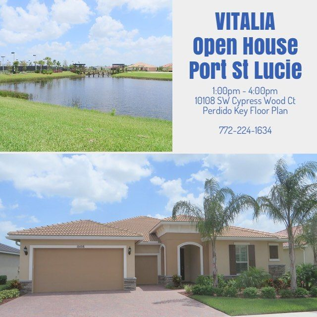 Open House Today! VITALIA new 55+ private community features magnificent Perdido Key floor plan with premium lake view homesite, cul-de-sac location & many upgrades. A must see! Additional questions or access to community 772-224-1634 text/call anytime.  #vitalia #portstlucie #portsaintlucie #floridarealestate #florida #55plus #55pluscommunities #55pluscommunity #55plusliving #openhouse #sundayopenhouse #floridarealtor #realestateagent #realestatebroker #realtor #realtorlife #homeforsale…