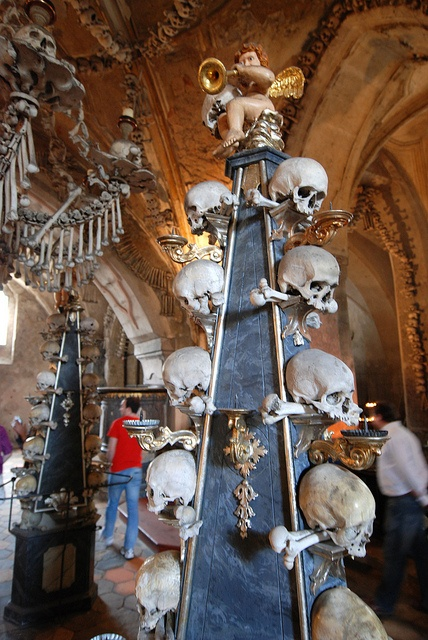 The Bone Church , Sedlec Ossuary, Kutná Hora in the Czech Republic
