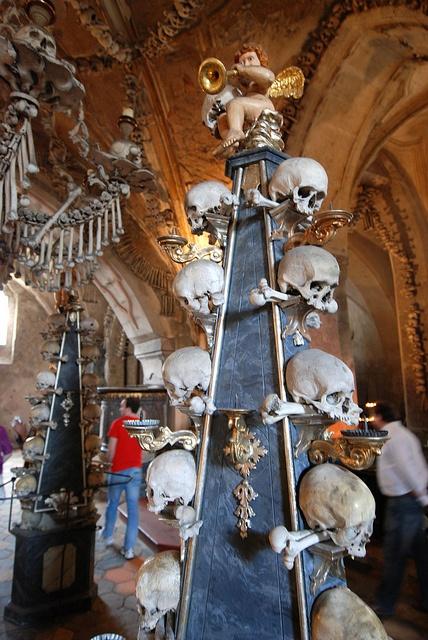 The Bone Church , Sedlec Ossuary, Kutná Hora in the Czech Republic