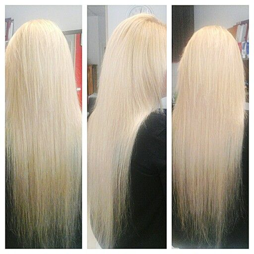 Platinum color in a hair very very long