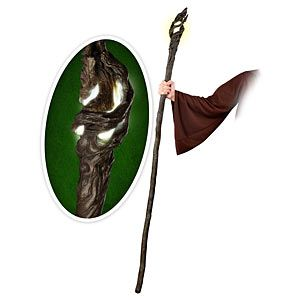 """ThinkGeek :: Hobbit Staff of Gandalf FX Replica Oh god I need this! And the robe! And I will come to class on the first day and yell """"YOU SHALL NOT PASS!"""""""