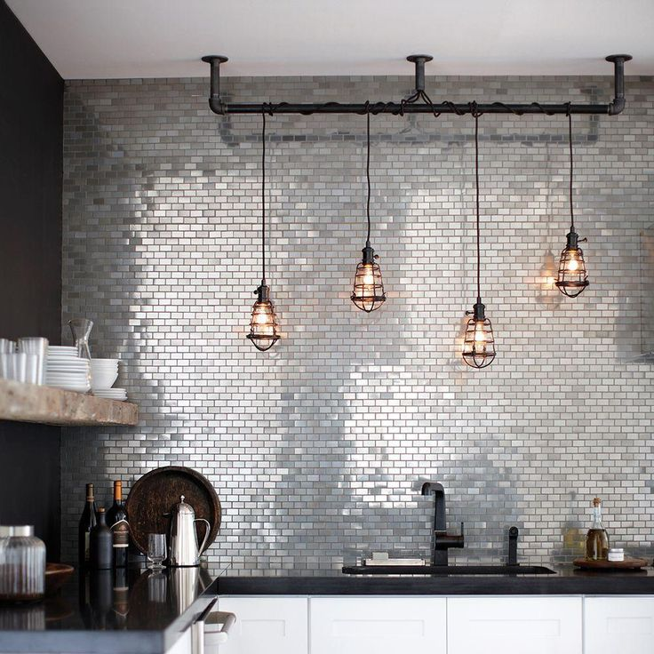 The lights make the kitchen. (And a beautiful backsplash doesn't hurt either.)