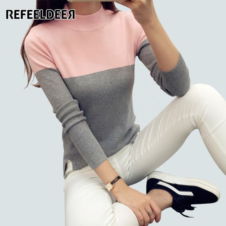 2016 Autumn Winter High Elastic Turtleneck Women Sweaters And Pullovers Female Tricot Knitted Sweater Jumper Pull Femme
