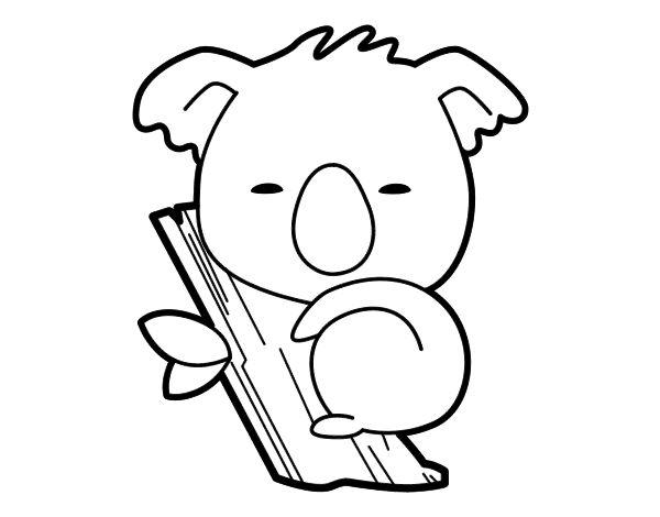 Dibujo De Koala Bebé Para Colorear