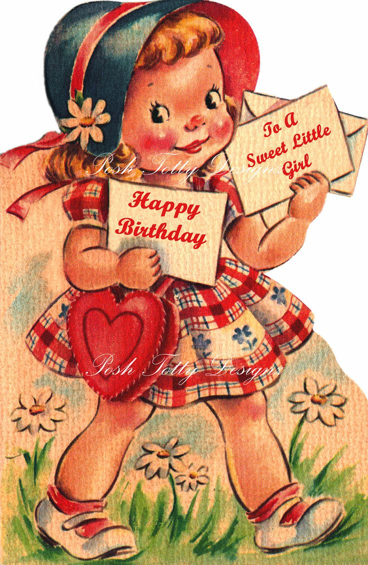 192 Best Vintage Birthday Cards Images On Pinterest Birthdays