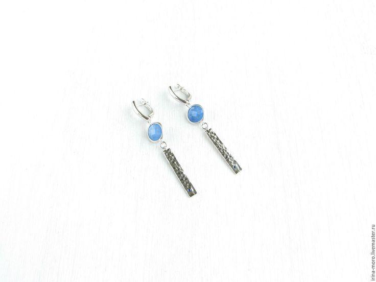 "Beautiful silver earrings ""Dreams"" with the jewelry and glass pendants with lapis lazuli. Красивые серебряные серьги ""Грезы"" с ювелирным стеклом и подвесками с лазуритом.  © https://www.livemaster.ru/item/20765495-ukrasheniya-sergi-grezysergi-lazurit-serebro-sergi-s-lazurito #earrings #lapis #lazuli #silver #longearrings #fashion #handmade #dawanda #серьги #лазурит #серебро #ручнаяработа #ярмаркамастеров #иринаморо"