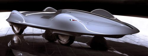 http://chicerman.com  carsthatnevermadeit:  Carlo Mollino Record Car 2006 by Stola. A model built by Stola based on designs by architect and racing driverCarlo Mollino from the 1950s. The model sold at auction earlier this month for$71875  #cars