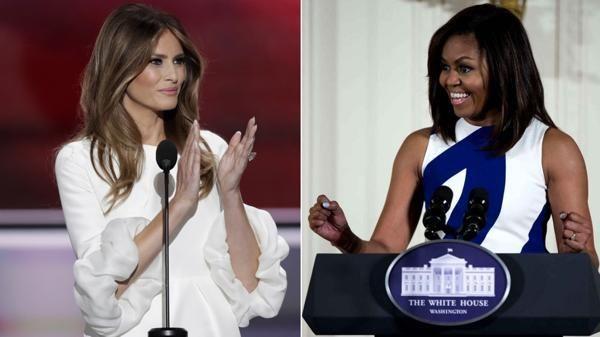 Acusan a esposa Donald Trump de plagiar un discurso de Michelle Obama