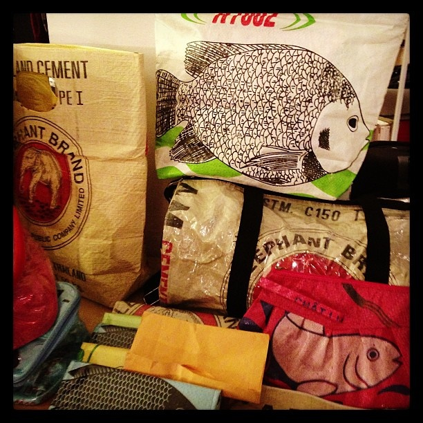 Mana*bee - re-cycled bags