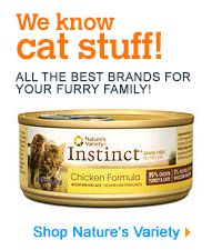 Nature's Variety Instinct Grain-Free Chicken Formula Canned Cat Food This is a good canned food. We only tried 4 cans but he loved it and his stomach seemed to love it too. I prefer the canned foods that look like chicken which is why we only did 4 cans of this. Its a pate. I would buy it again.
