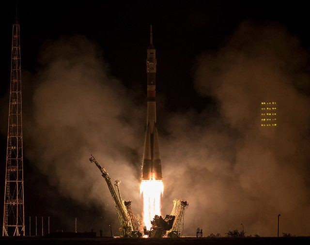 A few hours ago the Soyuz MS-06 spacecraft was launched from the Baikonur Cosmodrome in Kazakhstan and after about six hours reached the International Space Station with the three new crew members on board Mark Vande Hei, Joe Acaba and Alexander Misurkin. The Soyuz used the fast track, now commonly used also for this spacecraft's new version. Read the details in the article!