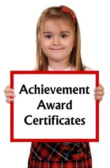 You can find achievement award certificates on this page of Unique Teaching Resources:  http://www.uniqueteachingresources.com/achievement-award-certificates.html