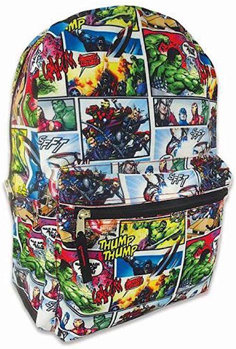d5da452c008 Amazon.com   Marvel Avengers Backpack Comic Print Full Size 16