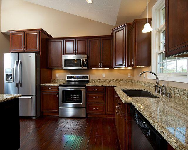 Kitchen Ideas With Dark Cabinets best 25+ cherry cabinets ideas on pinterest | cherry kitchen