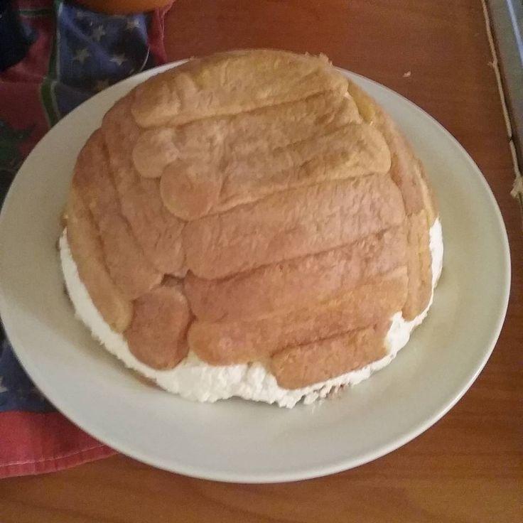 Lo zuccotto by Dora, fatto con savoiardi, filadelfia,  panna montata, succo di limone e limoncello.