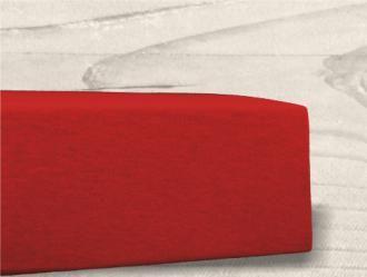 Grasshopper Posteľná plachta Jersey - Červená 90x200