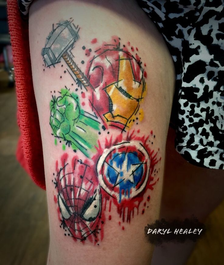 Marvel Logo Splash Effect And Tattoo Me On Pinterest