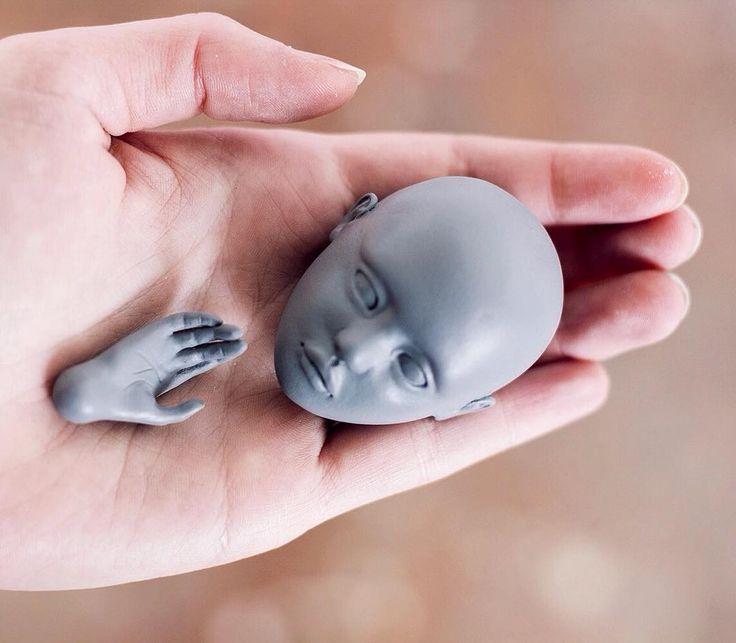 I can't stop taking pictures od my BJD prototype! Now the scary part of mold making. Wish me luck. ☺️⠀  •⠀  •⠀  •⠀  •⠀  •⠀  •⠀  #bjd #bjdphotography #bjdstagram #bjdphoto #bjddolls #bjdwip #artdoll #artdollsonly #wearethemakers #dollmaker #dollartistry #dollartist #oneofthebunch #porcelaindoll #ladoll #creativepaperclay #claysculpture #balljointeddoll #balljointdoll #inspirationfound #artbjd #dollphotography