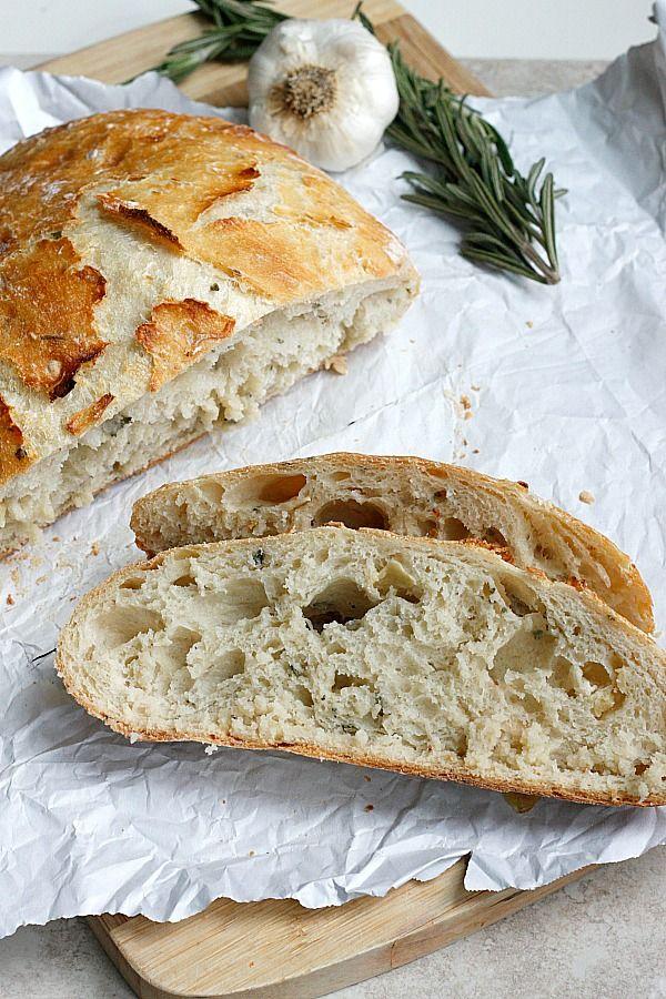 Roasted Garlic Rosemary Artisan Bread