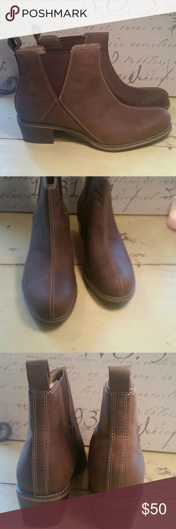 Woman's Brown Leather Boots,  size 12 Woman's Brown leather boots, size 12, new, never worn.   Very good quality boot, well-made. Red Wing Shoes Shoes Ankle Boots & Booties
