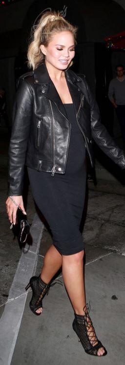 black leather jacket bump style