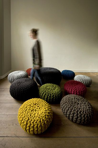 Trends: Extreme Knitting Moves into Furnishings | Apartment Therapy - I have to make one if these!