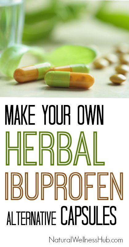 Make your own natural anti-inflammatory capsules with herbs! Like ibuprofen, but better.