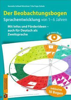 Auf einen Blick! – Der Beobachtungsbogen Sprachentwicklung von 1–6 Jahren Mit Infos und Förderideen – auch für Deutsch als Zweitsprache ++ Beobachtungsinstrument für ErzieherInnen in #Kita und Krippe; für Kinder von 1–6 Jahren ++ Praxiserprobtes Beobachtungskonzept, bei dem Sie nur einen Bogen pro Kind benötigen. Die erreichten Entwicklungsschritte werden im Beobachtungsschema farbig markiert. Begleitbuch mit genauen Erläuterungen etc. #Beobachtung