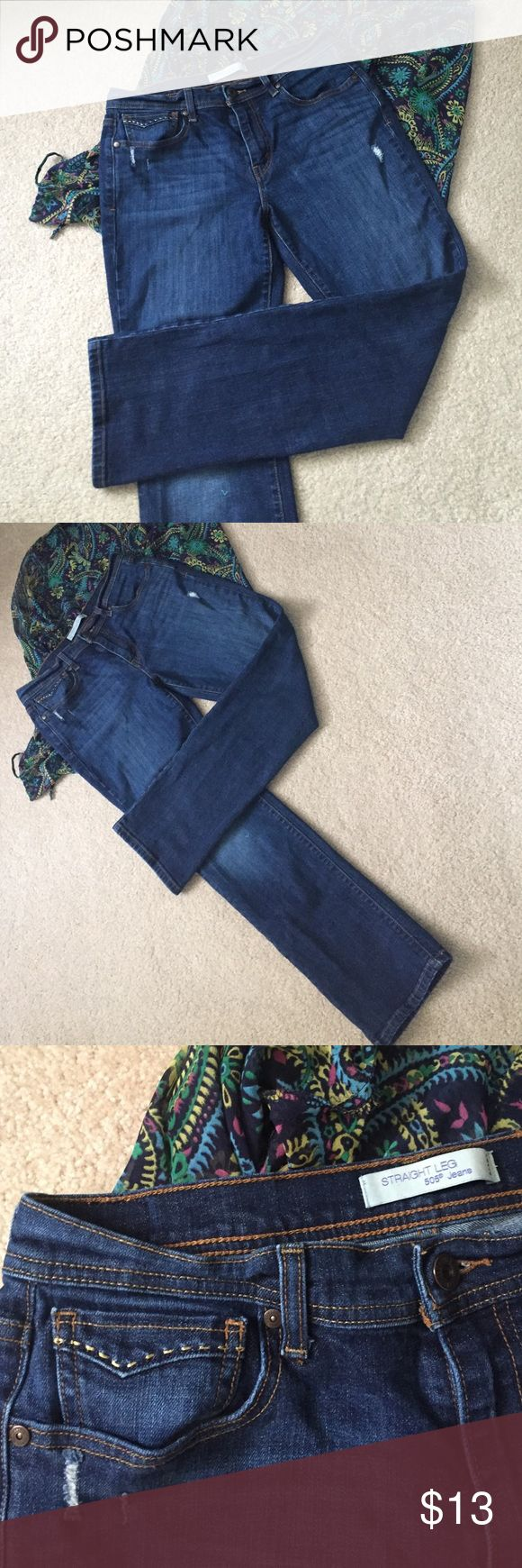 Levi's 506 Jeans Lightly distressed and fully fashionable! The jeans are just right for you! Excellent used condition! Size 10 M. Offers welcome! Levi's Jeans Straight Leg