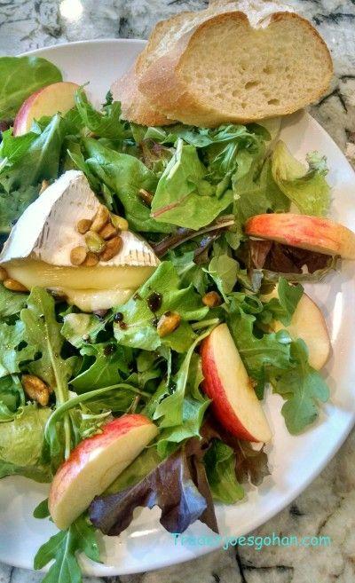 ブリーチーズとリンゴのサラダ Brie and Apple Salad #ブリ― #リンゴ #サラダ