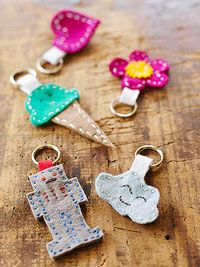 DIY Kids First Hand Sewing Project - Key Rings