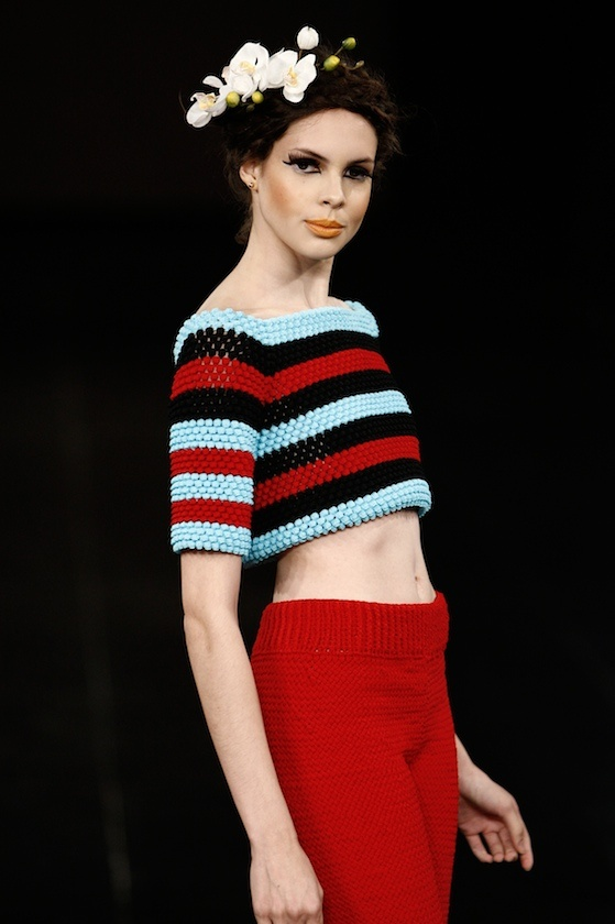 Beautiful Bubble Stitch Top by Helen Rodel MMXI Runway