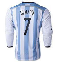 Argentina national team 2014 #7 DI MARIA HOME SOCCER LS [1405271555]