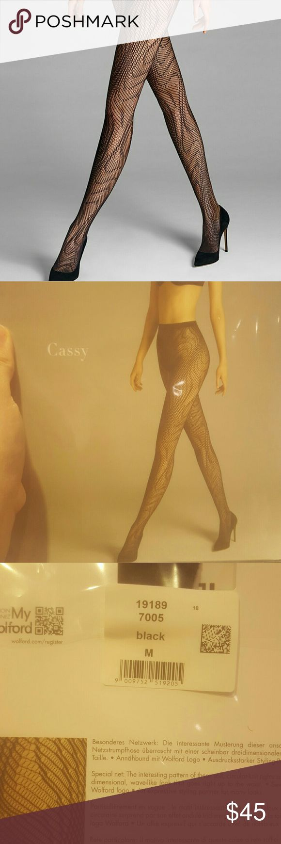 Brand New Wolford Cassy Tights Never opened and in original packaging! Black Fishnets tights Wolford  Other