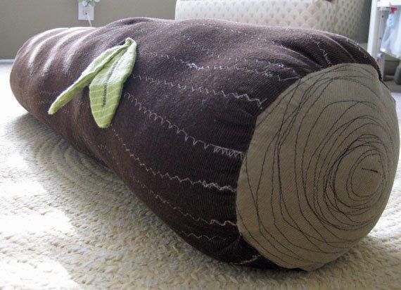 great log pillow
