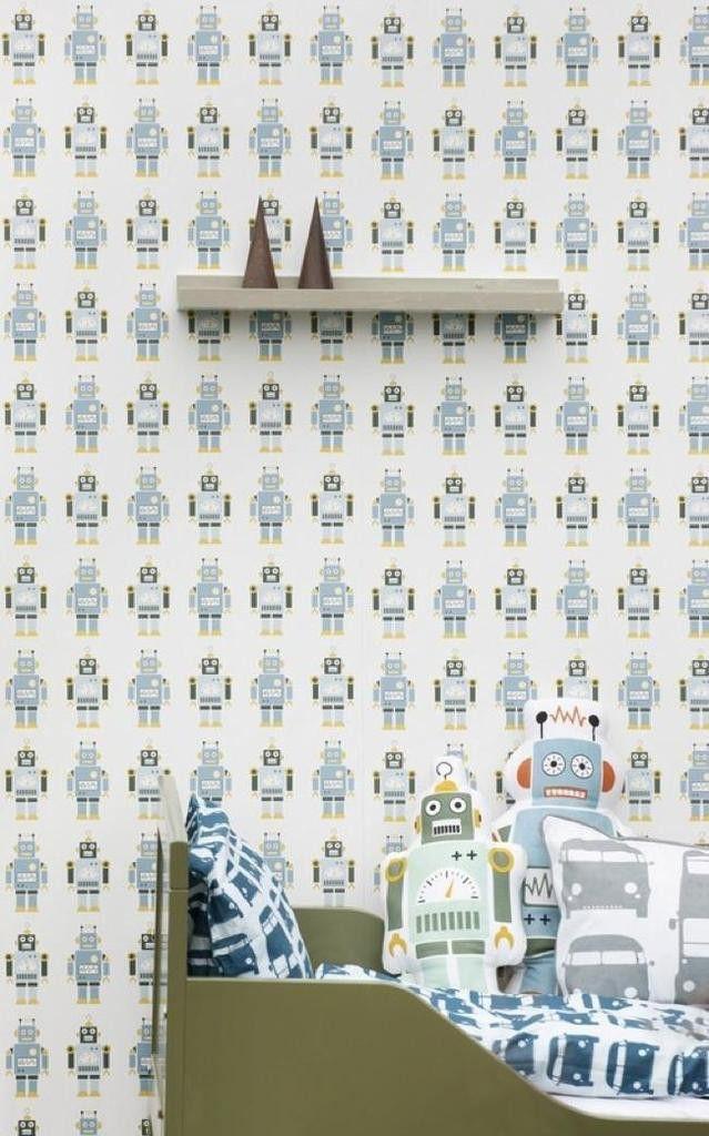 Ferm Living Shop — Robots Wallpaper